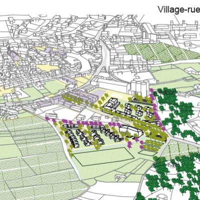 Étude de faisabilité urbaine et architecturale projet d'habitat - Visan